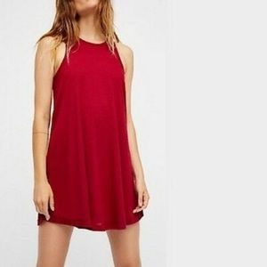Free People | LA Nite Red Swing Tank Dress M